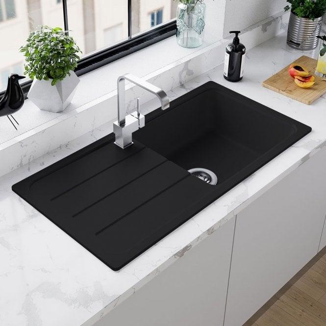 Pyraganite Granite Kitchen Black Sinks