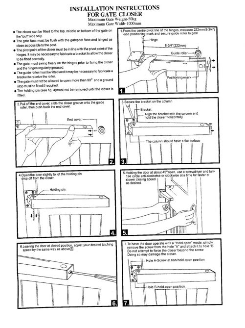 Gate Closer Fitting Instructions 1